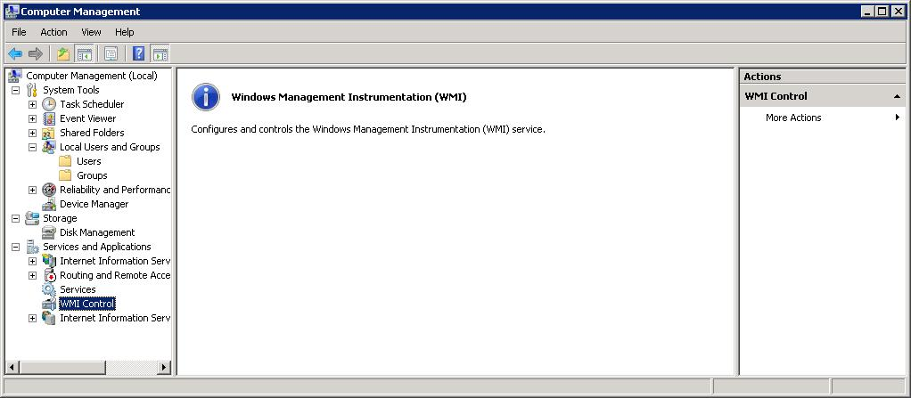 How to configure WMI service on application servers for