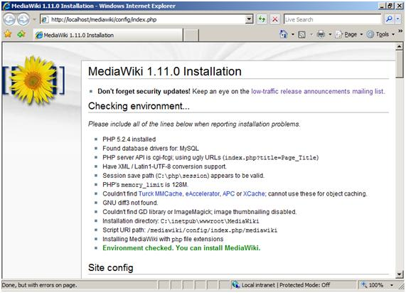 mediawiki on iis the official microsoft iis site