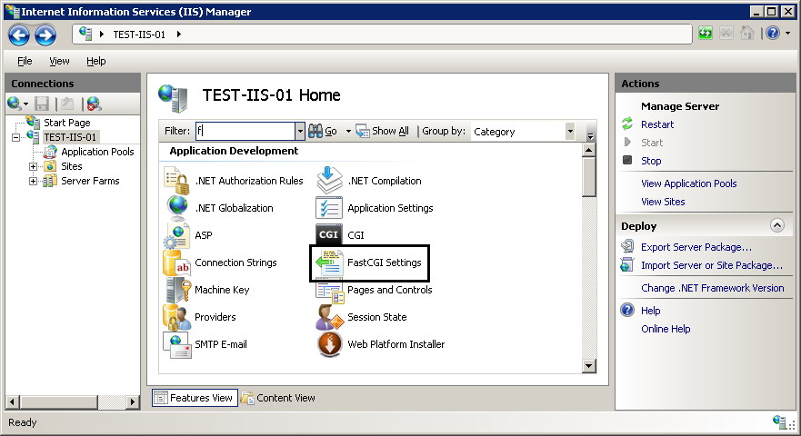 Using FastCGI to Host PHP Applications on IIS 7 : The