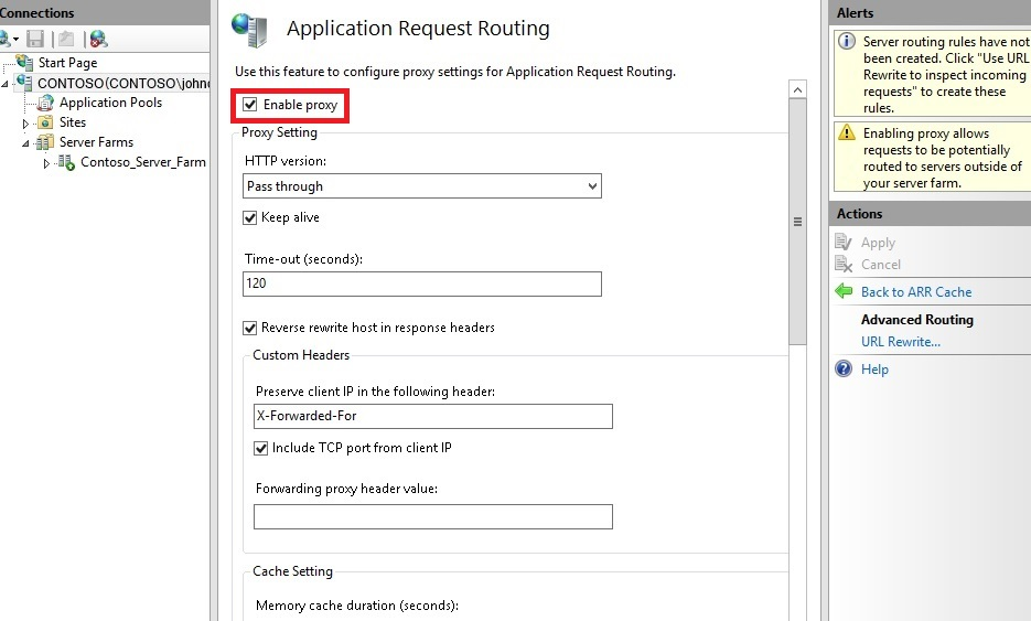 Creating a Forward Proxy Using Application Request Routing