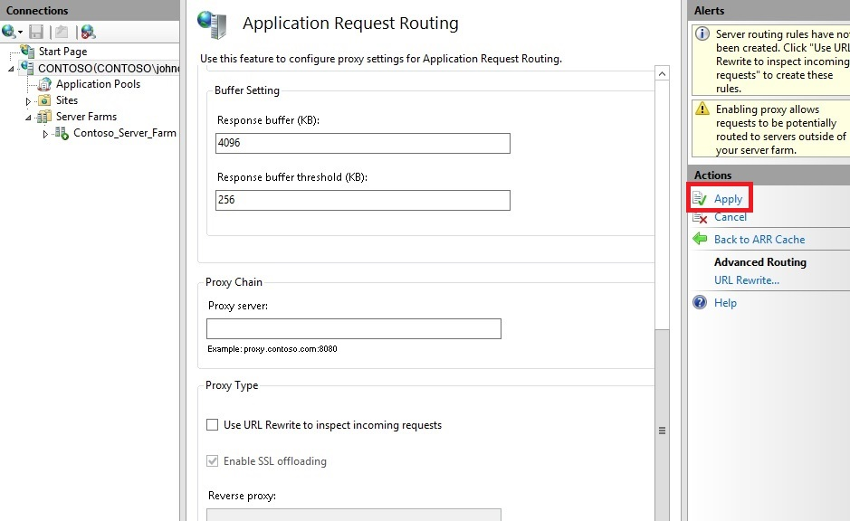 Creating a Forward Proxy Using Application Request Routing : The